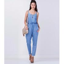 Macacão Jeans Feminino Comprido