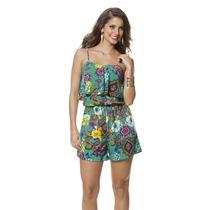Moda K Plus Size - Lindo Macaquinho Floral