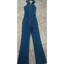 Macacão Jeans Feminino Frente Única M - Usado
