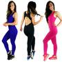 Kit 5 Macacões Feminino Suplex Fitness Academia E Ginastica