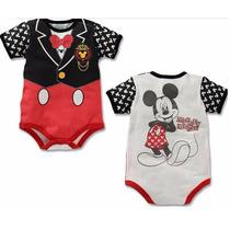 Macacão Fantasia Body Infantil Mickey Mouse Disney