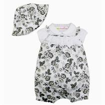 Conjunto Camiseta E Macacão Com Chapéu - Baby Fashion