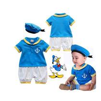 Macacão Infantil Marinheiro Pato Donald Fantasia 95