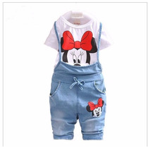 Macaquinho Minnie Conjunto Infantil Feminino Bebê Kit Disney