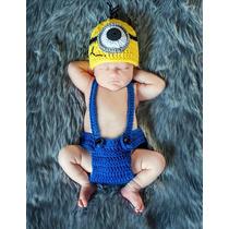 Conjunto Macacão Touca Minons Newborn - Fotografia De Bebês
