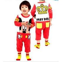 Macacão Fantasia Mickey Mouse Importado Bebê