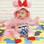 Macacão Inverno Bebe Minnie Pronta Entrega
