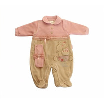 Macacão Ursinha Carinhosa Bebê Menina Sm13117