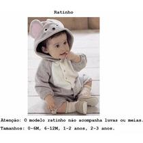 Macacão Fantasia Bebê Bichinho Ratinho Frete Grátis