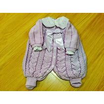 Macacão Com Camisa Gola Bordada Maternidadee Trico Enxoval