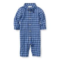 Macacão Masculino Camisa Xadrez Azul Mangas Longas - Polo...