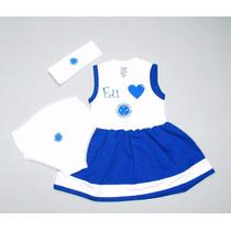 Conjunto Vestido Do Cruzeiro De 0 À 18 Meses (meninas)