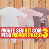 Macacão De Bebe Kit Bebe Tip Top Longo Em Plush Maternidade