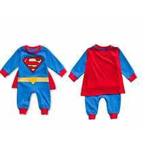 Fantasia Bebê Super Homem Supermann Macacão Já No Brasil