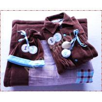 Saída De Maternidade Menino Luxo Com Macacão Plush