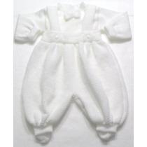 Macacão Trico Bebêmenino Saída Maternidade Batizado Presente