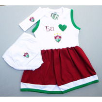 Conjunto Vestido Do Fluminense De 0 À 18 Meses (meninas)