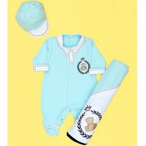 Kit Saída De Maternidade Urso Príncipe Azul - Bebê Menino