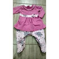 Macacão Vestido Bebê Menina Lindoooo Usado 1 Vez Tam. M