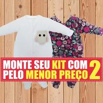 Macacão Bebe Kit Tiptop Longo Em Plush Presente Maternidade