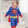 Macacão Fantasia Super Homem Para Bebê - A Pronta Entrega