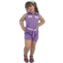 Macacão De Criança-de Shorts De Algodão- S/ Babado-infantil