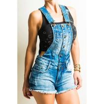 Jardineira jeans feminina lycra e poliester alvo da moda for Jardineira jeans feminina c a