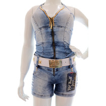 Jardineira Pitbull Pit Bull Jeans Original + Frete Gratis