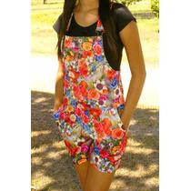 Jardineira Macacão Feminino Floral Até O Gg Pronta Entrega