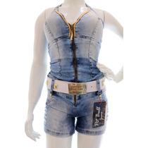 Macaquinho Jeans Pit Bull Original Panicats + Frete Grátis