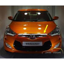 Friso Em Abs Cromado Do Capô Para Hyundai Veloster
