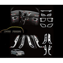 Hyundai Elantra Kit De Cromados Para Painel Interno Com 13 P