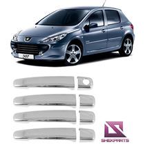 Aplique Maçaneta Cromada Peugeot 307 Hatch E Sedan Shekparts