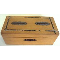 Caixa Ou Baú De Madeira - Cofre / Cofrinho Antigo