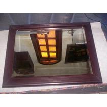 Espelho Bisote Moldura Antiga