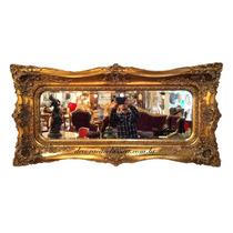 Espelho Luis Xv Bisotado Entalhes Manuais