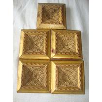 Enfeites Madeira Dourada P/ Móveis 5 Unid