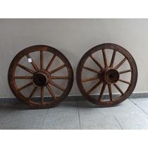 Antiga Roda De Carroça Original 67cm De Diâmetro