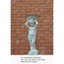 Estátua Menino Com Pote - Ef140