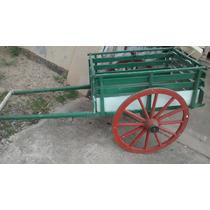 Carroça Charrete De Madeira Antiga Com Rodas De Ferro