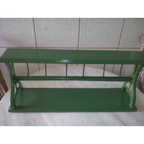 Porta Bobina Papel Em Madeira E Ferro Antigo Restaurado