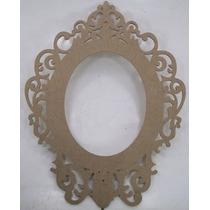 Moldura Oval Espelho Princesa 58x75cm Mdf