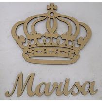 Coroa Trabalhada Cruz 75cm Com Nome Diversos 90cm