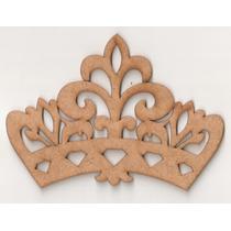Coroa Princesa Arabesco 75cm Com Nome 90cm Mdf