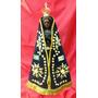 Nossa Senhora Aparecida De Madeira Manto/coroa/broche 37cm