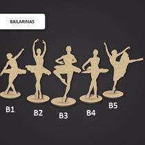 Kit 50 Bailarinas 27cm Mdf Decoração Festa Lembrança 15anos
