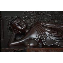 Buda Deitado - Entalhe Madeira