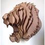 Cabeça De Leão - Escultura 3d - Mdf