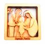 Sagrada Família Em Madeira 3d - Quadro