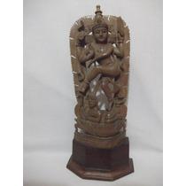 B. Antigo - Figura De Deusa Escultura Do Nepal Em Madeira